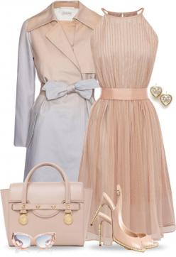 """""""Soft Colors for Spring"""" by yasminasdream ❤ liked on Polyvore: Outfits, Ideas, Fashion, Style, Clothes, Dresses, Peach, Closet, Coat"""