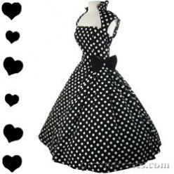 50's style: Full Skirts, Polka Dots, Style, Polka Dot Dresses, Pinup, Polkadots, 50S, Swing Dress