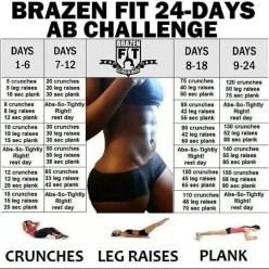 Abs: Challenges, Abs, Fitness, Workouts, Ab Challenge, Exercise, Work Out, Health