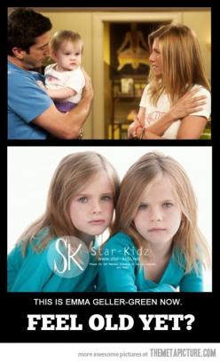 Any one else think it's weird that try actually look like they could be Jennifer's daughters? Just sayin'.: Perfect Emma, Stuff, Friends Tv, Cant, F R I E N D S, Movies, Emma Geller Green
