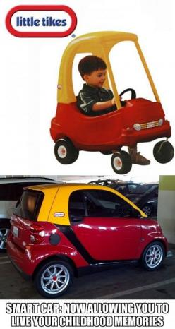 Awesome....@Lindsay Dillon Dillon Dillon Dillon Porter this is the smart car Ty needs!!!!: Giggle, Tikes Smart, Childhood Memories, Smart Cars, Funny Stuff, Little Tikes, Smartcar