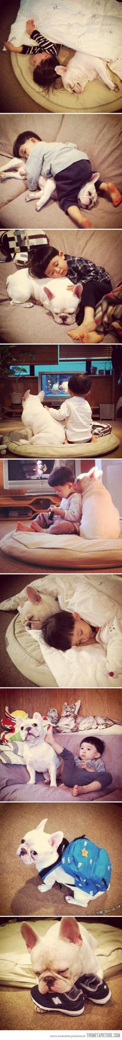 Aww: Best Friends, Dogs, Puppy, Sweetest Friendship, Boy, Kid, Animal