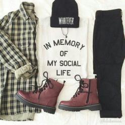 ⋆baby, i see you⋆: Outfits, Fashion, Grunge Outfit, T Shirt, Style, Beanie Outfit, Clothing, Social Life, Clothes