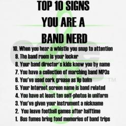 Band Nerd Top 10 Signs White T-Shirt. I would hope my band directors children know my name considering I'm one of them.: Top 10, Marching Band, Band Nerd, 10 Signs, Bandgeek, Band Life, Band Geeks, Music Band
