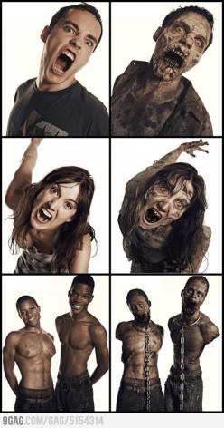Before & After     #TWD: Thewalkingdead, Zombie Makeup, Awesome, Walker, The Walking Dead Zombie, Walking Dead Zombies, Special Effects, Zombie Transformations