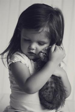 bless... perfect images to be framed with one of your favourite verses or poems and it will great gift or unique memento.: Cats, Animals, Kitten, Girl, Sweet, Children, Baby, Kids, Photo