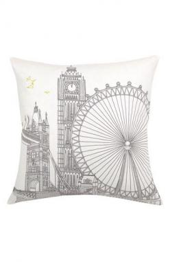 Blissliving Home 'London' Pillow available at Nordstrom: Bedroom Decor, Pillow 48, England Themed Bedroom, Bedroom Throw Pillows, Homes, Bedroom London Theme, Travel Themed Room, Bedroom Ideas