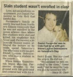 Boyfriend going to class (he wasn't enrolled in) to be with his girlfriend for V-Day and he covered her when a shooter came into the lecture class. He died saving her life. Read it!: Heroes, Sweet, Quotes, Guy, Truelove, True Love, Random, Things, So