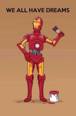 c511e3939ddd0d9c060d4e8120d39d6d.jpg (329×500): Geek, Stuff, Dreams, Iron Man, C3Po, Star Wars, Funny, Ironman, Starwars