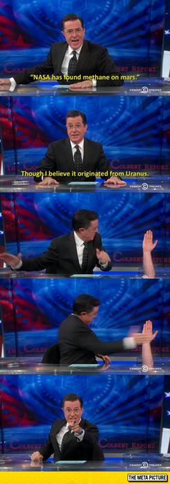 Colbert Knows How To Deal With A Good Joke: Nasa, Funny Things, Colbert Report, Funny Pictures, Funny Meme, Funny Stuff, Funnies, March