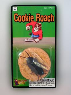 COOKIE ROACH....... Surprise your guests with a plate of cookies but one happens to have a little surprise under it......A BIG COCKROACH! This gag will have them jumping out of their seats. www.theonestopfunshop.com: Brother Prank, Cookie Roach, Guests, P