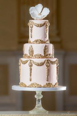Daily Wedding Cake Inspiration. To see more: http://www.modwedding.com/2014/06/19/daily-wedding-cake-inspiration/  #wedding #weddings #cake Featured Wedding Cake: Elizabeth's Cake Emporium; Featured Photographer: Nek Vardikos Photography: Gold Weddings, I