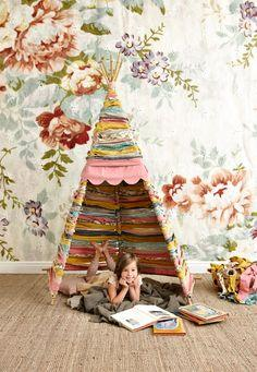 DIY fabric Teepee