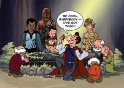 don't worry guys, i've got this.: Meets Han, Disney Star Wars, Stars, Charming Meets, Han Solo, Prince Charming, Mashup, Snow White, Starwars