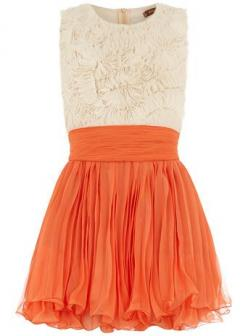 Dorothy Perkins  Orange frill top dress: Summer Dress, Style, Dresses, Dorothy Perkins, Orange Frill
