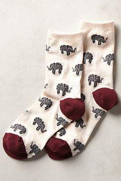 Elephant Love socks from Cute Dose are the cutest elephant socks you can wear on your feet!: Elephants, I Love You, Link, Elephant Socks, Mod Retro, Vintage Socks, Modcloth Com, Retro Vintage