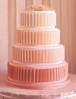 everlytrue:    [Martha Steward Weddings] I love this, but in a different color and a more noticable ombre affect: Pink Wedding, Peach Weddings, Color, Wedding Ideas, Ombre Cake, Wedding Cakes, Peaches, Weddingcake
