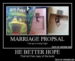 Everytime I see that book proposal idea I think the exact same thing. That would come out of my mouth before the yes..: Proposal Idea, Harrypotter, Thought, Funnies, Harry Potter Books, Hp Book, Harry Potter Proposal