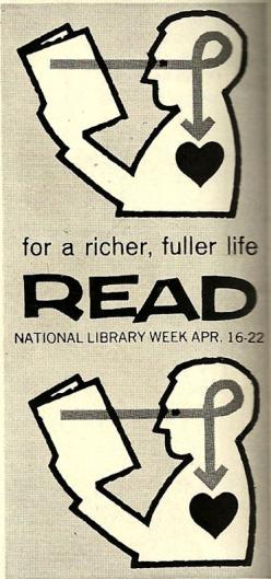 Exactly. We are what we read. Reading has a profound impact on us, for much the better!: Libraries, Library Week, Books, Week Poster, Reading, Vintage Library, Library Poster, Life Read