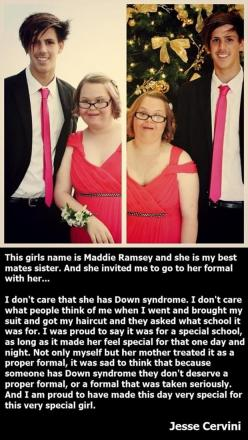 Faith In Humanity Restored – 30 Pics. Oh my god, some is these made me cry: Down Syndrome, Faithinhumanityrestored, Faith In Humanity Restored, Faith Restored, Amazing People, Boy