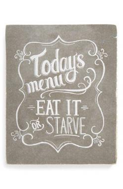 Free shipping and returns on PRIMITIVES BY KATHY 'Today's Menu' Chalk Box Sign at Nordstrom.com. A humorous quote is rendered in chalk-look script on a charming sign that adds a shabby-chic touch to your kitchen.: Box Sign, Signs, Ideas, Craft