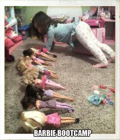 Funny Pictures Of The Day – 61 Pics: Girl, Fitness, Funny Picture, Funny Stuff, Funnies, Boot Camp, Barbie Bootcamp, Kid