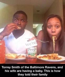 Funny Pictures Of The Day – 91 Pics: Torrey Smith, Raven, Pregnancy Announcements, Ideas, Future, Baby Announcements, Funny, Photo, Baby Stuff