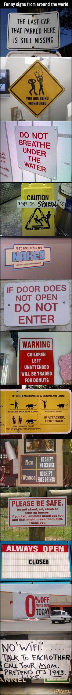 Funny Signs From Around The World. The last one is my favorite.