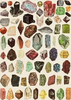 Gemz by Amber Ibarreche: Crystals, Gemstones, Inspiration, Pattern, Illustration, Art, Rocks, Minerals, Amber Ibarreche