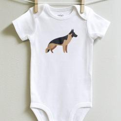 German Shepard baby bodysuit: Babies, German Shepards, Puppies, Loves Playing, Dogs, Products, Baby Bodysuit