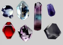 guide to drawing gems (click through for individual steps): Design References, Digital Painting Tutorials, Drawing Gems, Gemstones Tutorial, Painting Gemstones, Character Design, Game, Art Tutorials Tumblr Com, Gems Art