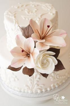 gumpaste: Small Wedding, Wedding Ideas, Cake Design, Cake Ideas, Wedding Cakes, Beautiful Cake, Gorgeous Cake