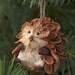 Hedgehog Ornaments, Set of 3: Holiday Ideas, Christmas Crafts, Hedgehog Ornaments, Pinecones, Gift Ideas, Pinecone Ornaments, Pine Cone Ornaments, Christmas Ideas, Hedgehogs