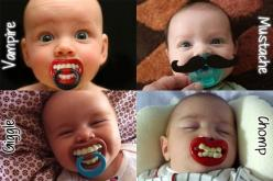 How funny are these pacifiers : ) At least 2 of them seem to be one piece #pacifiers. Keep your baby healthy and safe... babies411.com/babies411/baby-tips/pacifier-safety-new.html: Babies, Baby Baby, Funny Pacifier, Baby Pacifiers, Funnies, Kids, Funny Ba