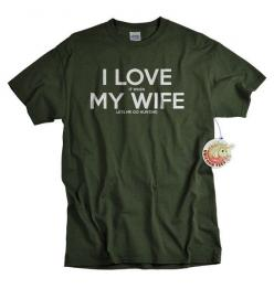 I love my wife t shirt I love it when my wife lets me go hunting t-shirt funny hunter guys tshirt gift for men husband dad Christmas gift on Etsy, $14.99: My Wife, Hunting Gift, Gift Ideas, Gifts For Husband, T Shirts, Christmas Gift, Hunting T Shirt, Fun