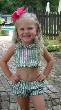 I want to make one like this for Allee with boy shorts - since she LIVES in her bikinis all summer: Little Girls, Bathing Suits, Southern Belle, Future Daughter, Future Children, Baby Girl, Future Kids, Preppy Kids