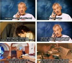 Ian McKellen and Elijah Wood...this is why i love the cast of the Lord of the Rings, and the Hobbit too, for that matter: Rings Hobbit, Lord Of The Rings Funny Cast, Rings The Hobbit, Lord Of The Rings Cast, Hobbit Lotr, Lotr Cast Funny, Lotr Hobbit, Fand