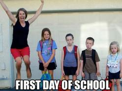 Im sure moms everywhere feel the same way!: Picture, Schools, Funny Stuff, First Day Of School, Backtoschool, Back To School, Kid, Funnie