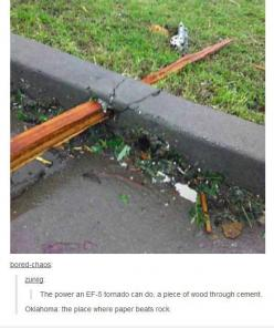 In case you wondered...  // funny pictures - funny photos - funny images - funny pics - funny quotes - #lol #humor #funnypictures: Stuff, Funny Pictures, Oklahoma, Paper Beats, Tornadoes, Beats Rock, Rocks, Mother Nature