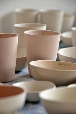 inspiration | blush ceramics: could be used for centerpieces or favors | via: flikr: Pastel, Blush Ceramics, Vans, Collection, Photo, Ceramics Inspiration