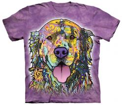 """Is Your Golden Retriever Colorful? Then This shirt is for you! NOTE: A donation will be made to Golden Retriever Rescue with each sale. *** THESE are """"One of a: Russo Golden, Dogs, Mountain, Stuff, Golden Retrievers, Tshirt, T Shirts, Products"""