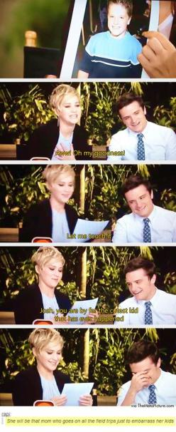 Josh Hutcherson and Jennifer Lawrence. they are the best: Cutest Kid, Jennifer Lawerence, Josh Hutcherson, Hunger Games, Hungergames, J Law, Jennifer Lawrence, Jenniferlawrence