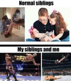 Laughing so hard lol! My siblings and I are mostly the first, but when we get angry it's definitely the second: Sister, Funny Pictures, Random, So True, Funny Stuff, Funnies, Humor, Siblings