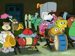 Literally the most accurate depiction of marching band ever.: Band Kids, Marching Band, Free Food, Brhs Kids, Band Humor, Band Music Funny School, Spongebobsquarepants Quote, Band Geeks, Spongebob Squarepants