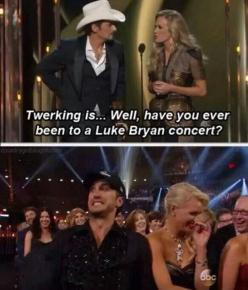 lmao... i thought those were mini seizures... haha oh brad!: Giggle, Country Girl, Country Boys, Lukebryan, Country Music, Luke Bryans, Funny Stuff, Funnies
