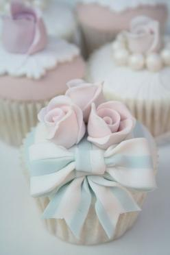 Love the combination of pink and blue in these gorgeous #cupcakes. So special for a #wedding: Beautiful Cupcakes, Cup Cakes, Sweet, Bow Cupcakes, Cakes Cupcakes, Pretty Cupcake, Pastel Cupcakes