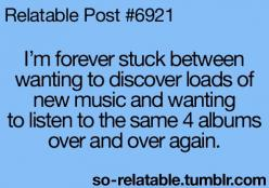 "Lucky for me, I have an awesome friend that forces me (in a good way) to listen to ""different"" music.: Quotes, Relatable Posts, My Life, Music Bands, Humor, Teenager Posts"