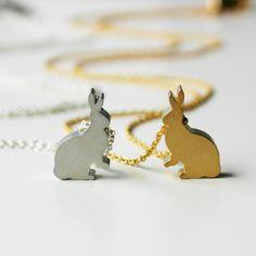 Mini Bunny Necklace  Gold  Pre Order will be by prettygirlhandbags, $20.00