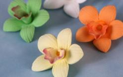 Mini Cymbidium Orchid Cupcake Toppers.: Cymbidium Orchids, Minis, Wedding Cake, Assorted Colors