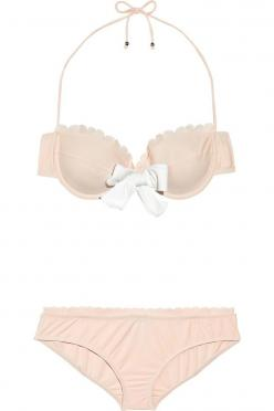 Miu Miu Bow-embellished underwired bikini: Bathing Suits, Inspiration, Bikinis, Swimsuits, Summer, Miu Miu, Wear